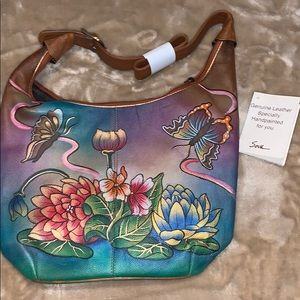 🌈 SALE NWT SOVO leather hobo hand painted purse